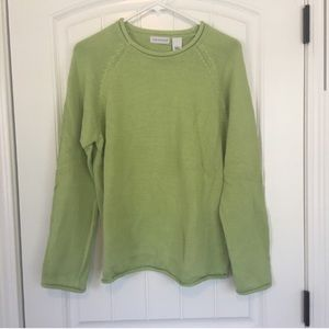 Kim Rogers Green Scoop Neck Sweater Size Large